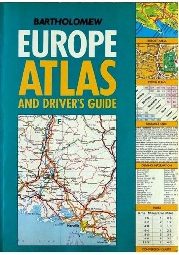 Okladka ksiazki europe atlas and drivers guide