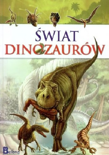 Okladka ksiazki swiat dinozaurow