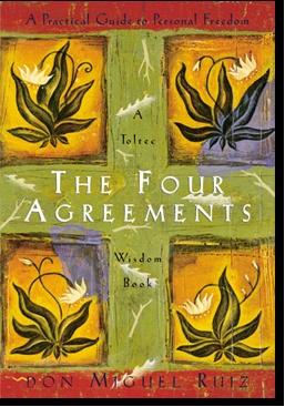 Okladka ksiazki the four agreements a practical guide to personal freedom a toltec wisdom book